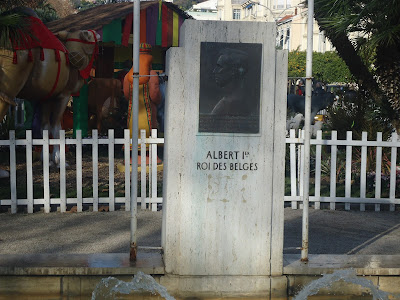 Albert I statue in Menton France Travel