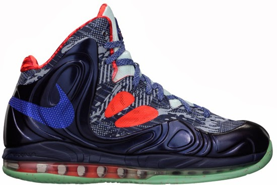 cheap for discount 21f82 6ac03 This Nike Air Max Hyperposite comes in a hyper blue, obsidian and total  crimson colorway. Featuring a unique print found throughout the upper along  with an ...
