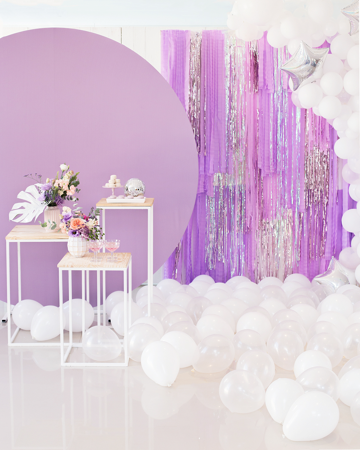 new year party decor fringe hang DIY festa tropical minimalista  blog do math