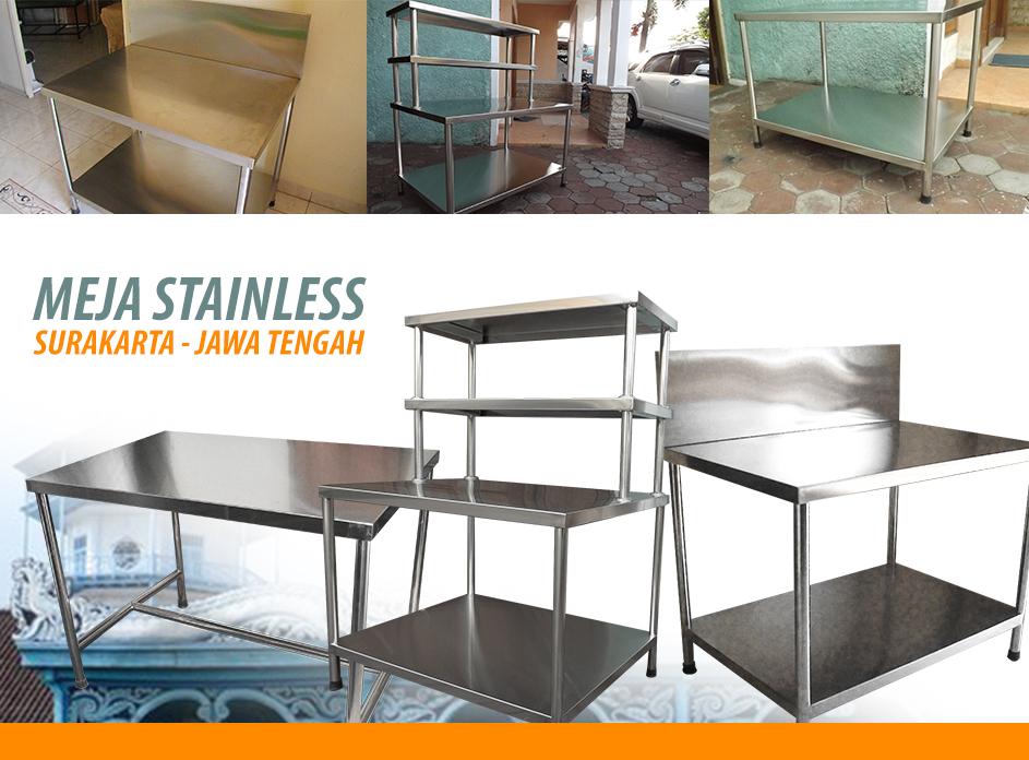 Jual Meja Stainless di Surakarta Jawa Tengah