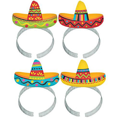 Pack of four sombrero headbands for your Cinco de Mayo party