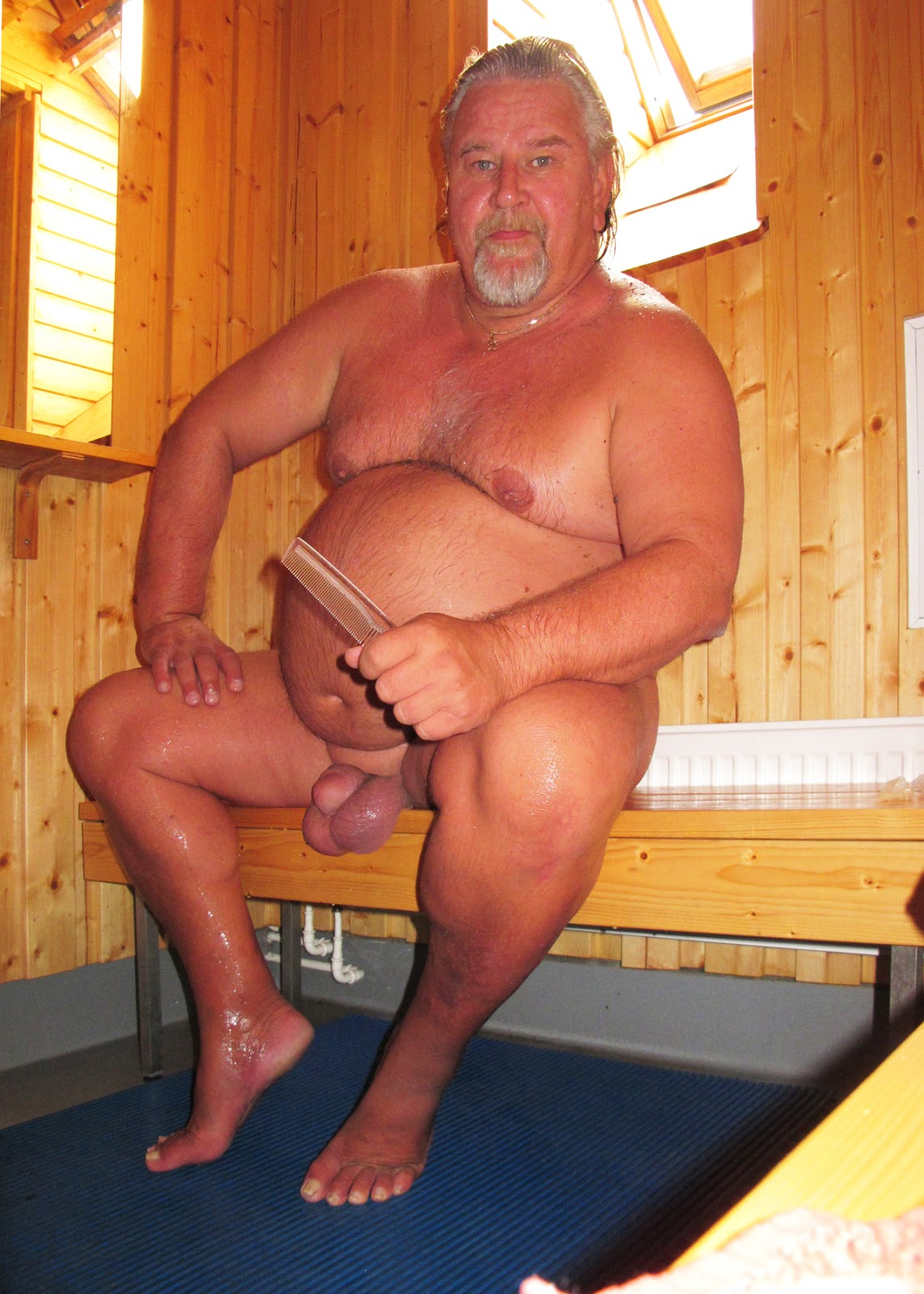 Shower Lads Huge Balls Sauna Daddy-1022