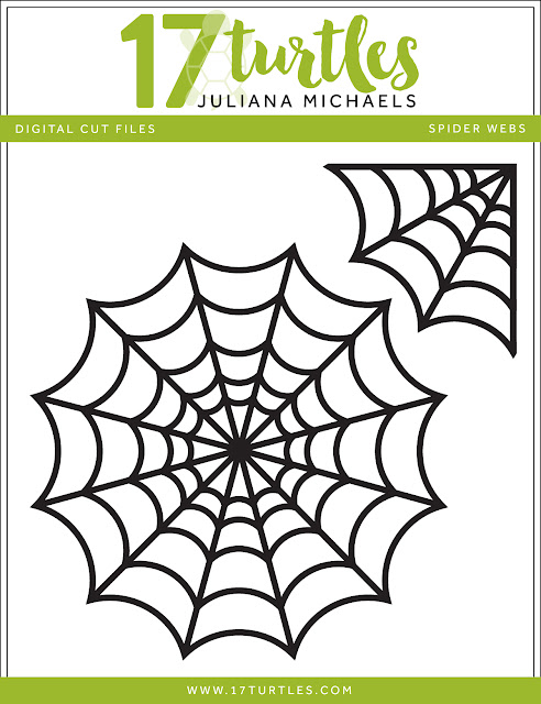 Spider Webs Free Digital Cut File by Juliana Michaels 17turtles