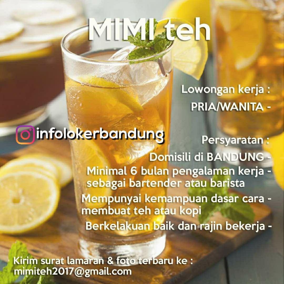Lowongan Kerja Mimi Teh Bandung Desember 2017