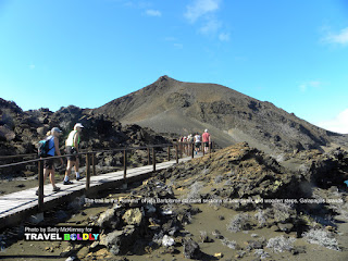 "Travel Boldly Galapagos Island - The trail to the ""summit"" of Isla Bartolome contains sections of boardwalk and wooden steps."