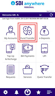 how to add inter bank beneficiary in sbi anywhere app