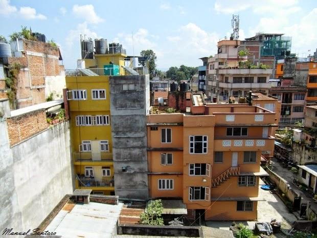 Kathmandu, vista dall'Hotel The Great Wall