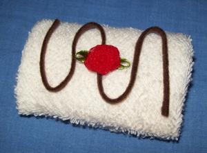 towel snow cake