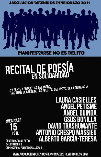 "RECITAL SOLIDARIO ""ABSOLUCIÓN DETENIDOS PENSIONAZO 2011"""