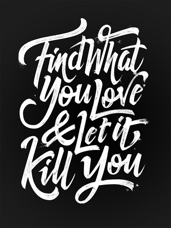 Inspirasi desain tipografi terbaik dan terbaru - The words of Bukowski by Björn Berglund