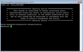 Login in putty with username & password