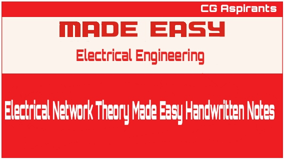 Electrical Network Theory Made Easy Handwritten Notes