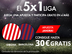 suertia promocion 30 euros Girona vs Barcelona 23 septiembre