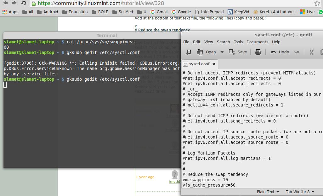Cara Meningkatkan Kecepatan Loading Booting Laptop Linux Mint 17