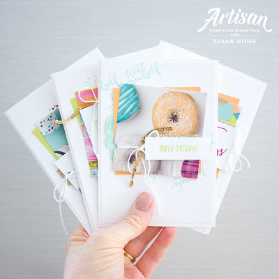 Easy handmade birthday card set with Picture Perfect Birthday by Stampin' Up! - Susan Wong
