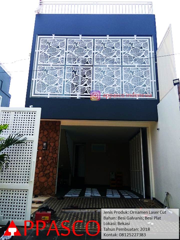 Hiasan Teralis dengan Ornamen Besi Laser Cut dan Galvanis yang Keren di Bekasi