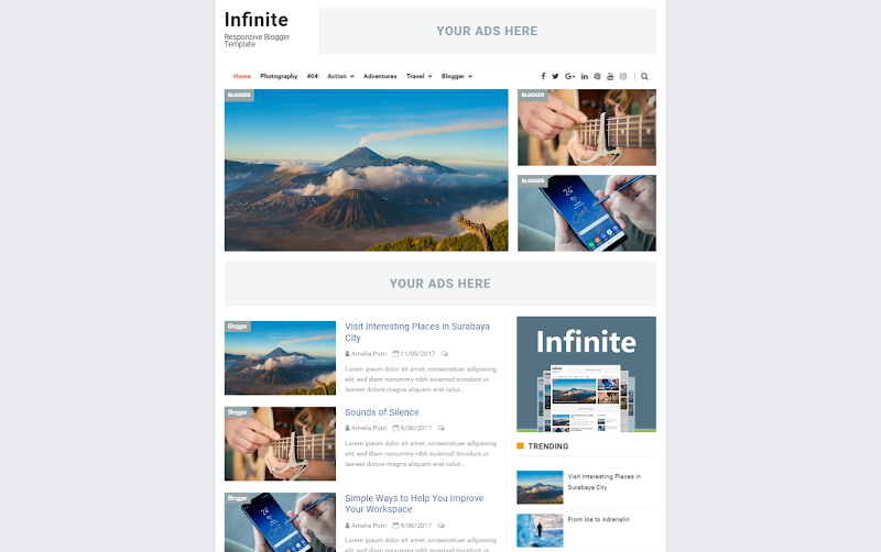 Infinite - Responsive Blogger Template