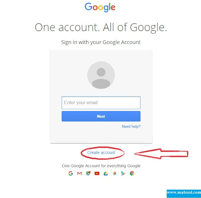 first step to create gmail account