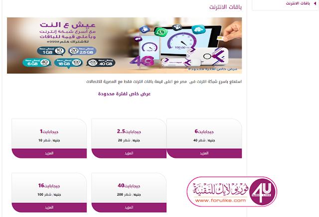 أنظمة وأسعار خطوط المحمول وباقات الإنترنت الجديدة من المصرية للاتصالات Telecom Egypt WE