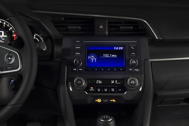 Novo Honda Civic Sport (versão de acesso) 2017 - interior