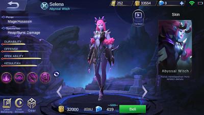 Hero Selena Skill & Abilities