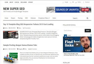 UPDATE!!! New Super SEO Friendly Blogger Template