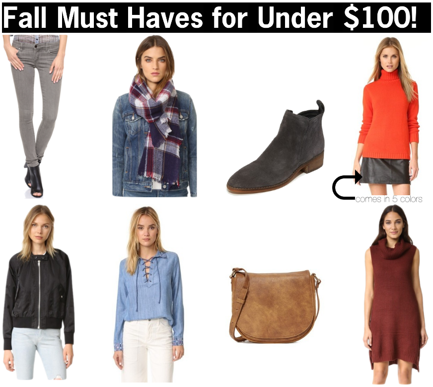 fall fashion must haves for under $100 | cute clothes for fall that are cheap | inexpensive fall clothes