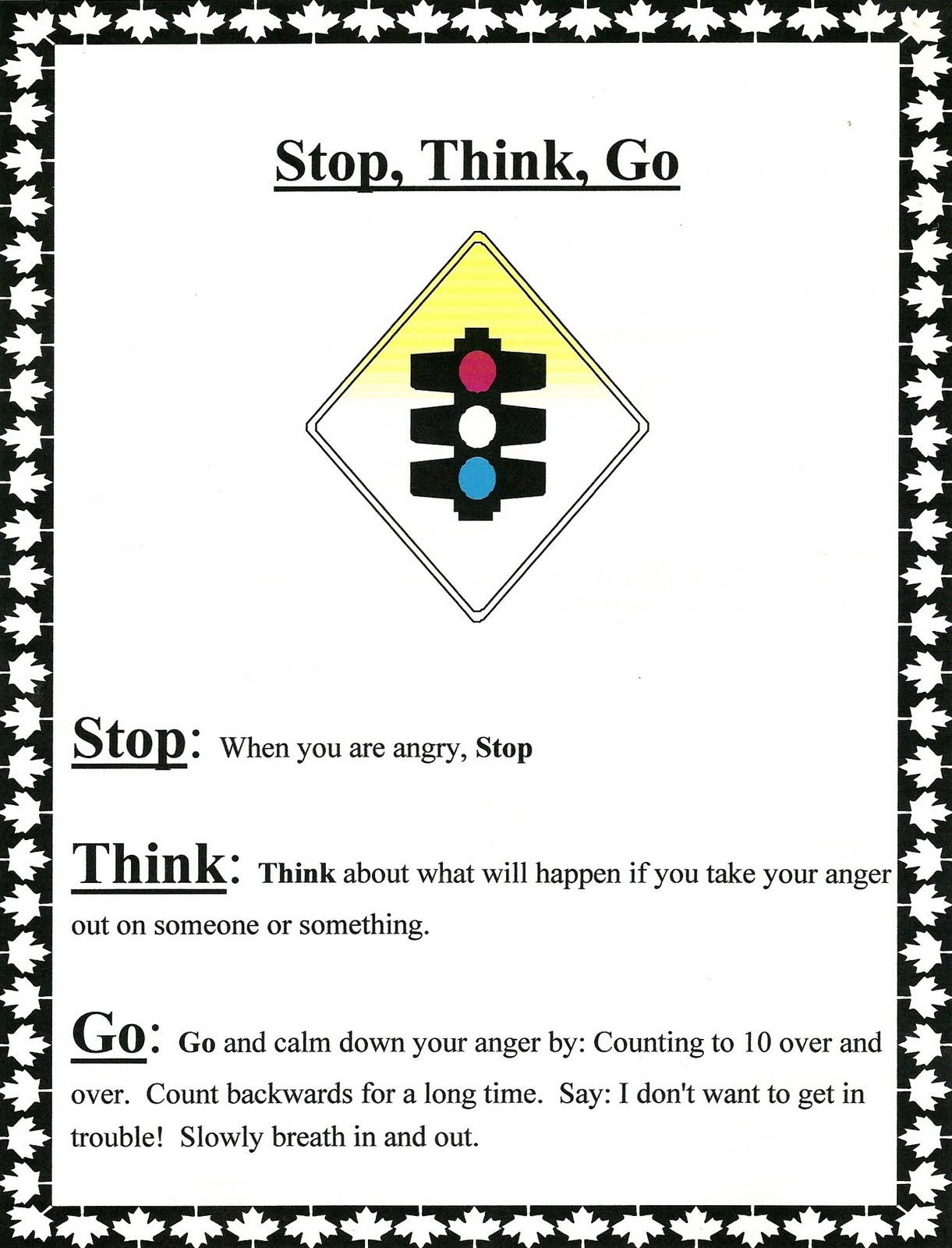 Stop Think Go With Images