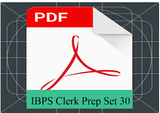 IBPS Clerk Preliminary Exam Model paper PDF