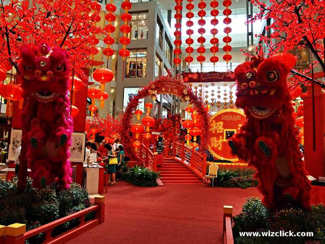 Pavilion Mall KL 2013 Chinese New Year decoration center court area.