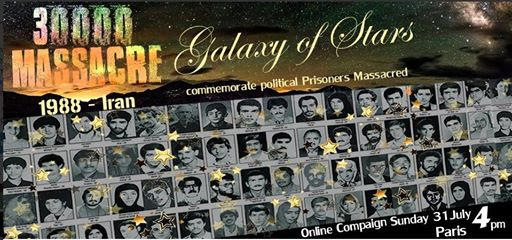Iran-28th anniversary of massacre of 30000 political prisoners in Iran