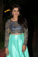 Nikki Galrani in Green Skirt  Top at Marakathamani music launch ~  Exclusive (102).JPG