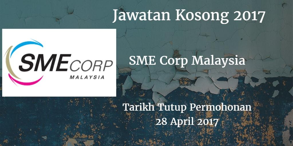 Jawatan Kosong SME Corp Malaysia 28 April 2017
