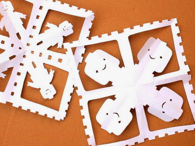 tutorial to cut lego snowflakes