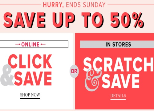 Hudson's Bay Summer Scratch & Save Up To 50% Off