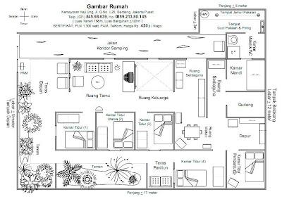 Denah Gambar Rumah Bahasa Inggris Minimalis