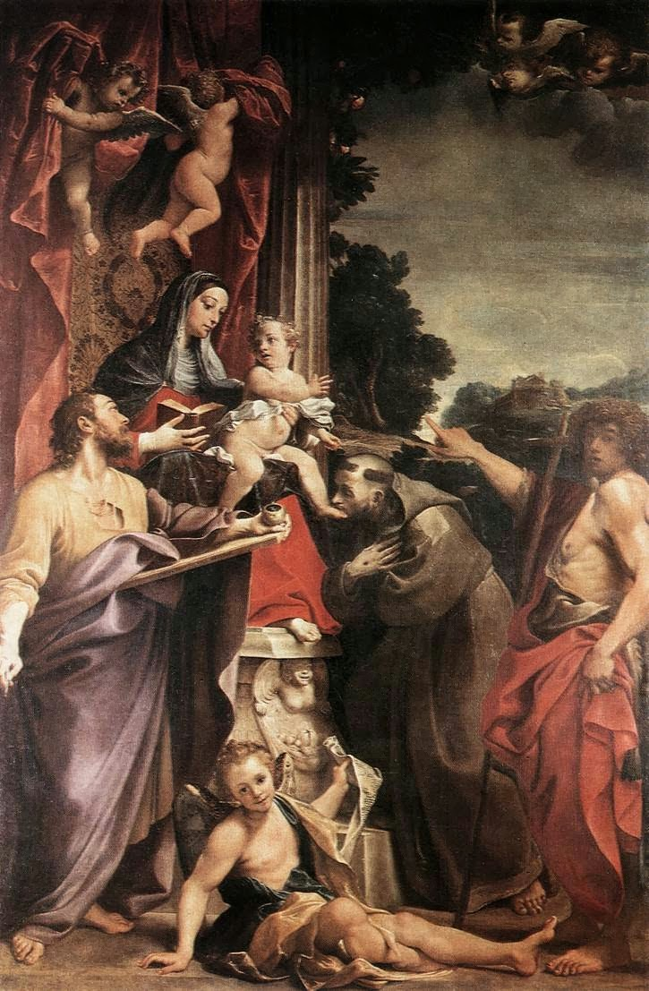 Paintings by Annibale Carracci | Baroque Era painter (1560 ...