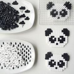 hama boncuğu panda
