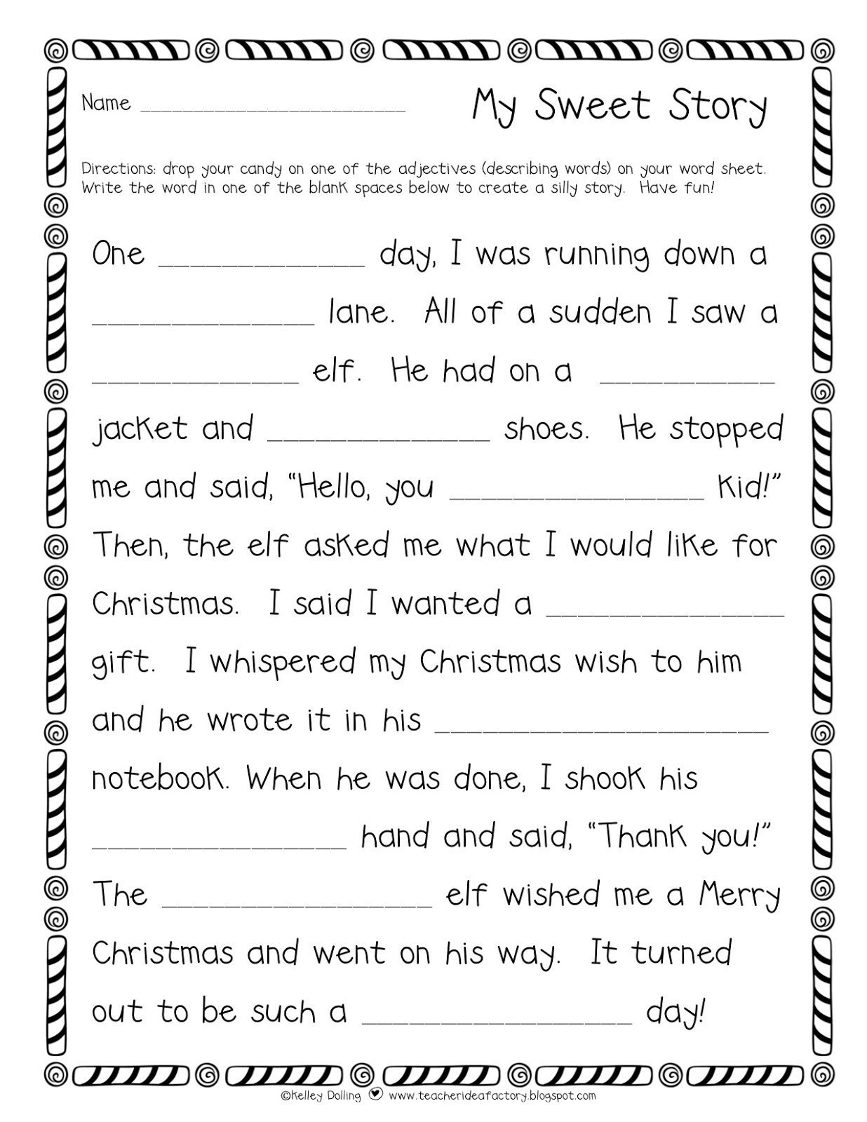 My Sweet Story A Holiday Flavored Freebie