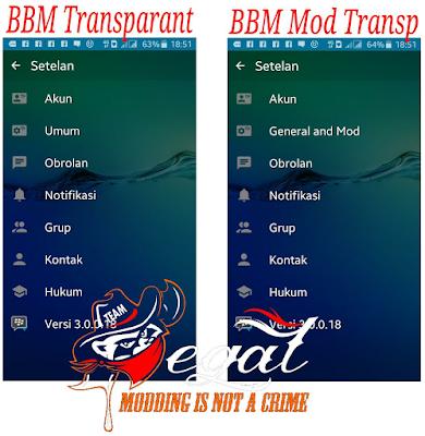 BBM2 Mod Transparent 3.0.0.18 Clone