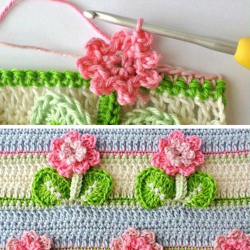 Crochet Flower Stitch - Free Pattern