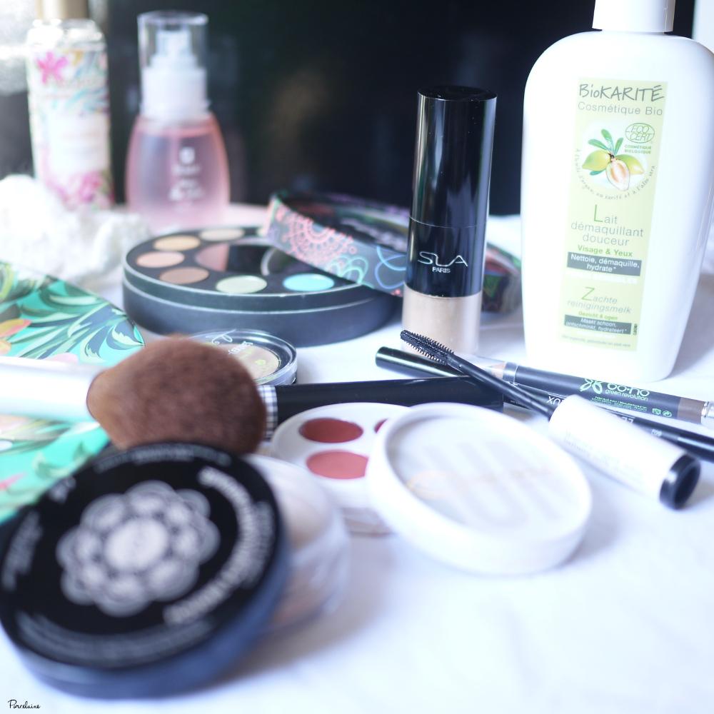 Make-up, démake-up de l'été. Bio. Naturel