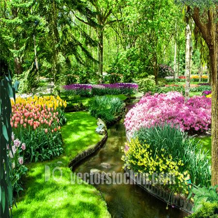 Tranh Vườn Hoa