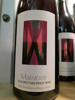 Malivoire Mottiar Pinot Noir 2012 - VQA Beamsville Bench, Niagara Peninsula, Ontario, Canada (90 pts)