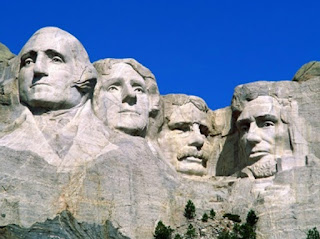 Presidents Rushmore from left Thomas Jefferson, George Washington, Theodore Roosevelt, Abraham Lincoln