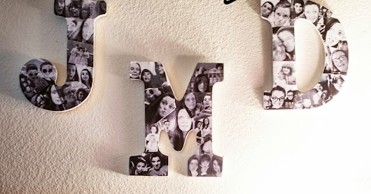 DIY: Monogram Collage Wall Decor