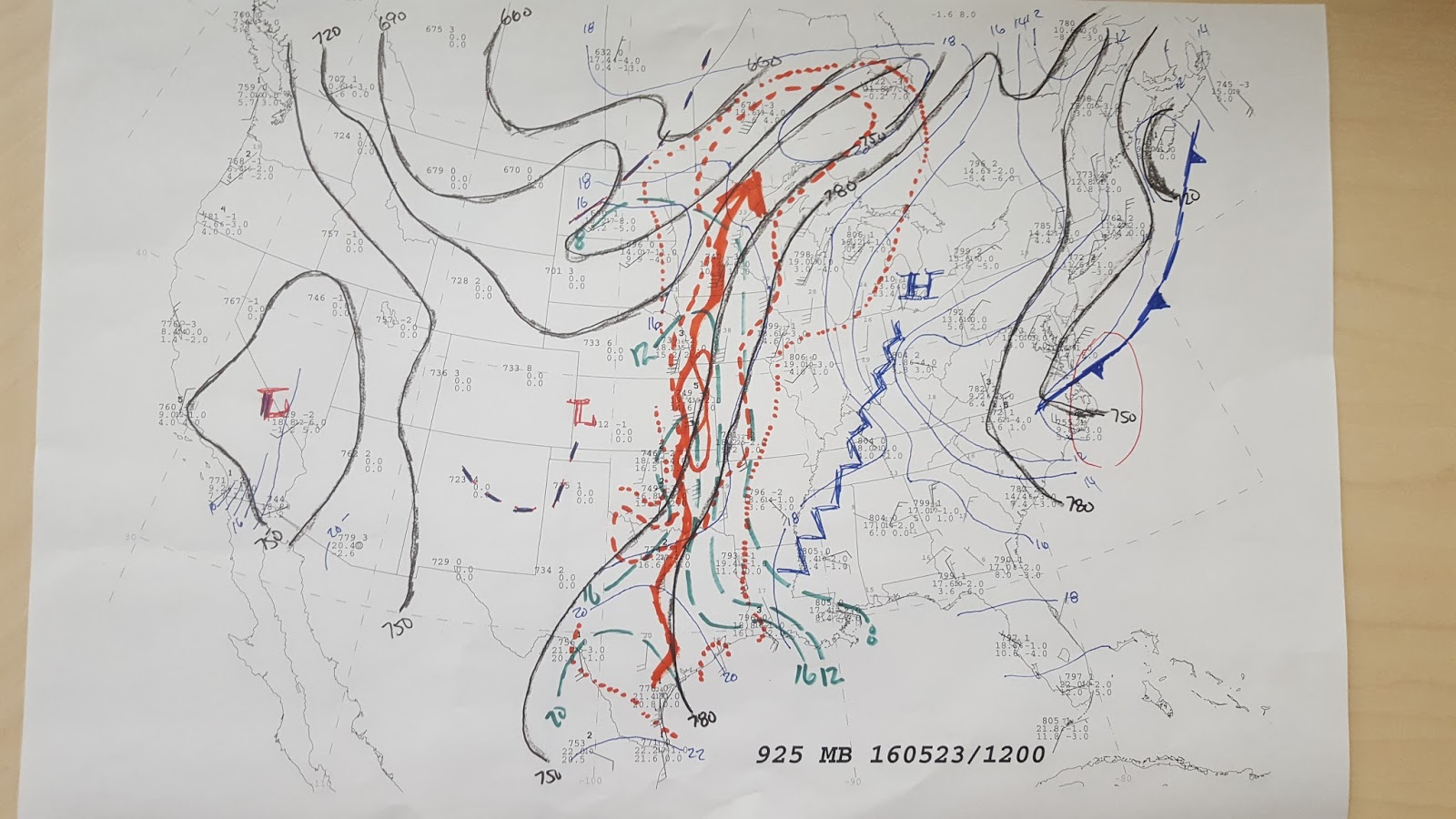 these detailed maps showed good flow ahead of the mcs on the order of 40kts along with a ribbon of high dewpoints overall the maps showed warm