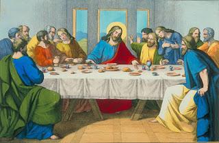 la ultima cena jesus y discipulos