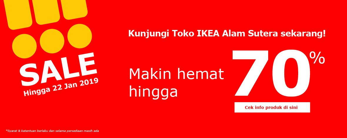 #IKEA - Promo Sale s.d 70% di IKE Alam Sutera atau ONLINE (s.d 22 Jan 2019)