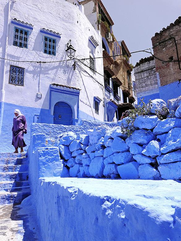 las calles azules de Chaouen